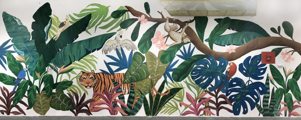Booth and Partners Jungle Themed Mural